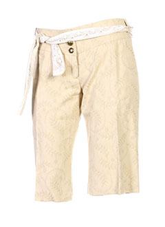 les petites collections shorts / bermudas femme de couleur beige
