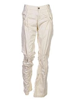 freesoul pantalons et decontractes femme de couleur beige