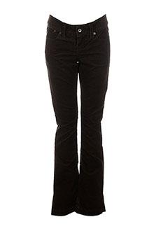 gsus pantalons femme de couleur marron
