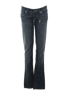 j & company jeans femme de couleur bleu