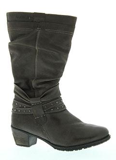 stressless bottes femme de couleur gris