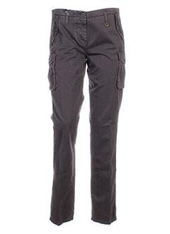 aeronautica pantalons femme de couleur gris