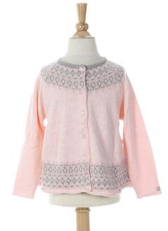lili gaufrette gilets fille de couleur rose