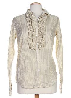 replay chemises femme de couleur beige