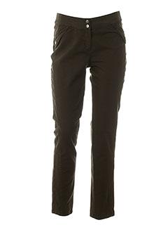 caroline biss pantalons femme de couleur marron