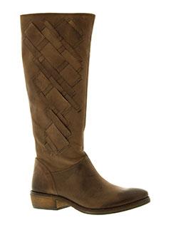 bisous et confiture bottes femme de couleur marron