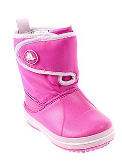 crocs boots enfant de couleur rose
