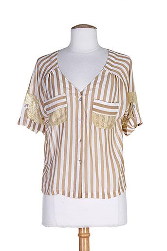 anne turtaut chemises femme de couleur beige