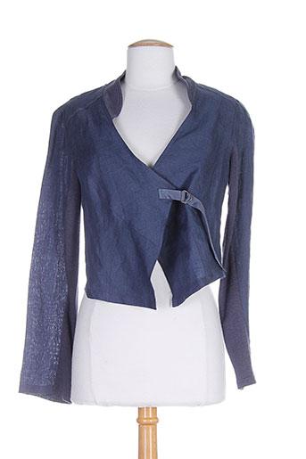 3322 vestes femme de couleur bleu (photo)