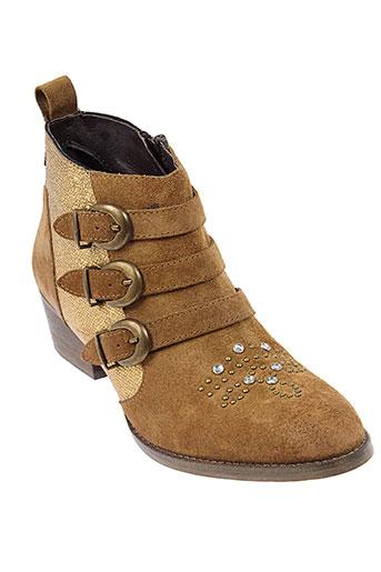 coco et et et abricot boots femme de couleur beige