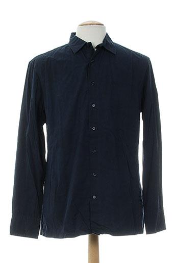 freesoul chemises homme de couleur bleu
