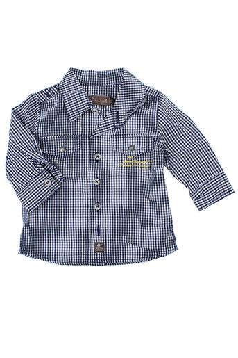 jean bourget chemises garçon de couleur bleu