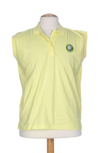 glenmuir t-shirts homme de couleur jaune
