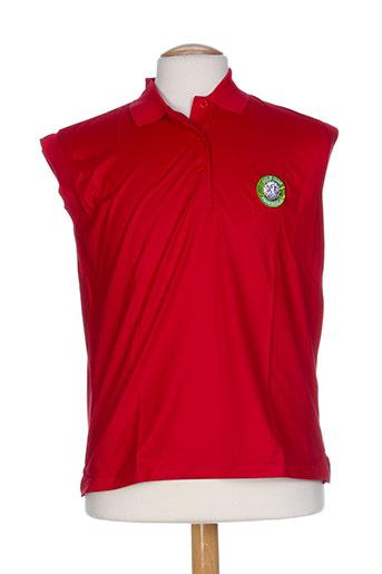 glenmuir t-shirts homme de couleur rouge