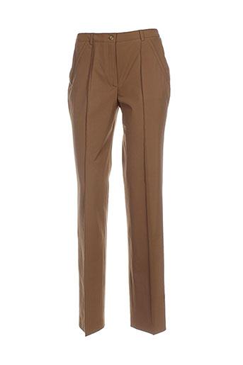 marie.valois pantalons femme de couleur marron