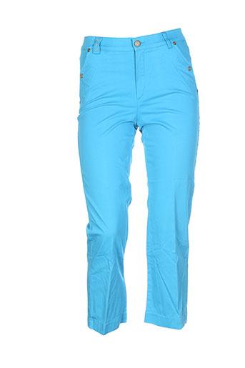 dismero pantacourts femme de couleur bleu