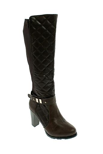 sergio et todzi bottes femme de couleur marron