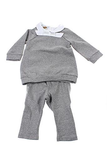 bulle et de et bb t et shirt et pantalon fille de couleur gris