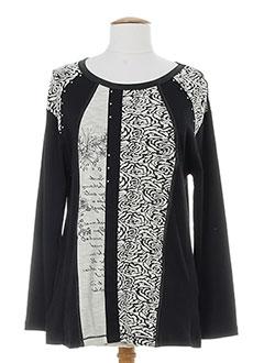 bagoraz t-shirts / tops femme de couleur noir