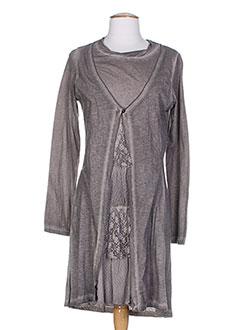 Robe mi-longue marron MALOKA pour femme