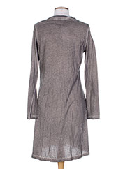 Robe mi-longue marron MALOKA pour femme seconde vue
