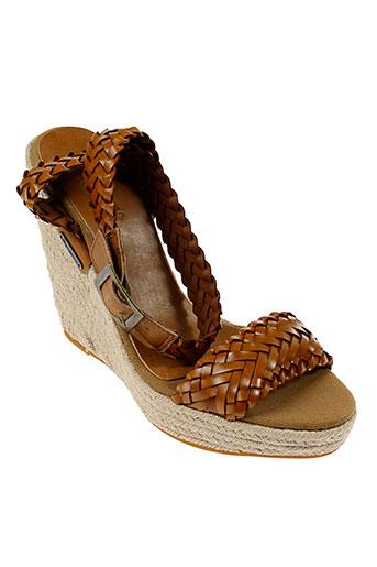 pepe et jeans sandales et nu et pieds femme de couleur marron