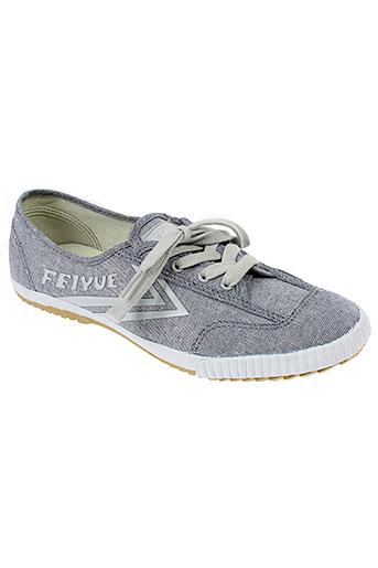 feiyue baskets femme de couleur gris