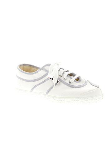 kawasaki chaussures homme de couleur blanc