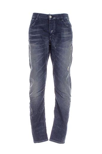fifty four jeans homme de couleur bleu