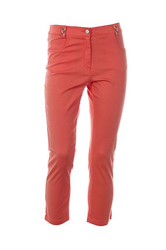 mademoiselle ambre pantacourts femme de couleur orange