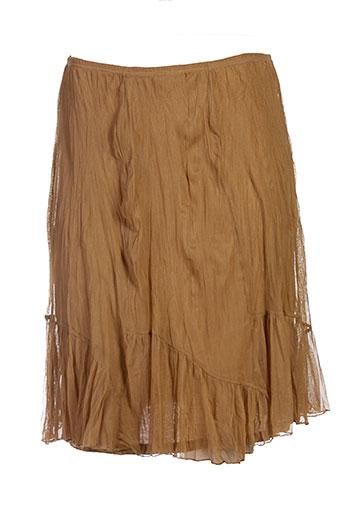 lauren vidal jupes femme de couleur marron