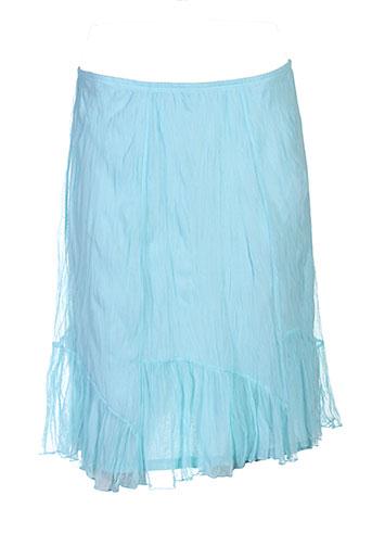 lauren vidal jupes femme de couleur bleu