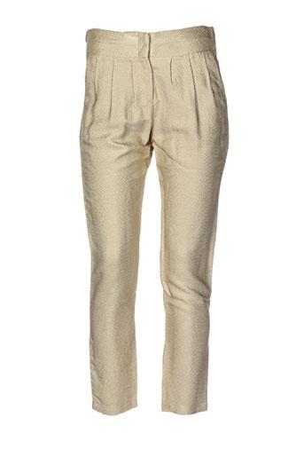attic and barn pantalons femme de couleur beige