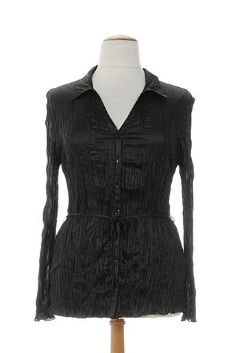 lauren vidal chemises femme de couleur noir