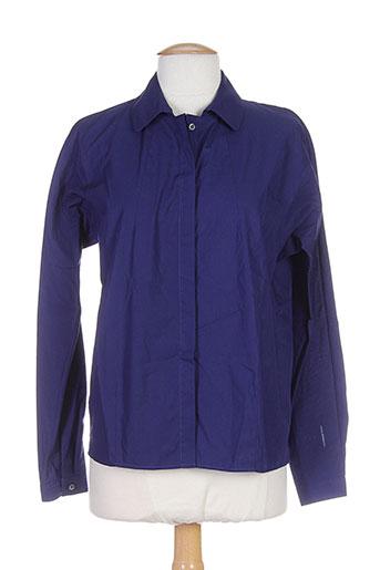 alberto biani chemises femme de couleur bleu