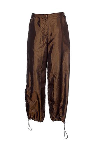 animale pantalons femme de couleur marron