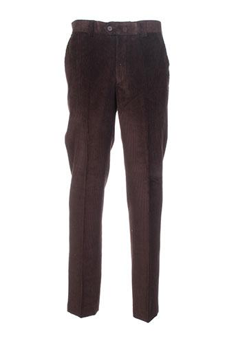 pedro morago pantalons femme de couleur marron