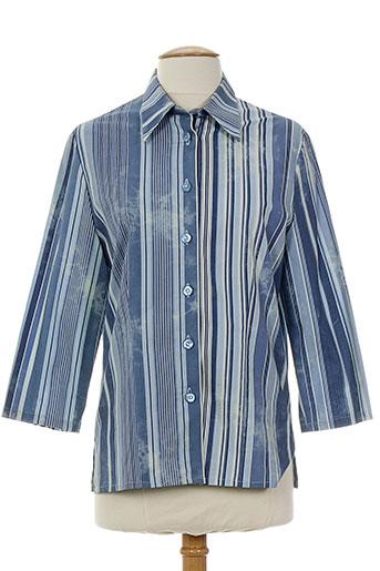 melani chemises femme de couleur bleu