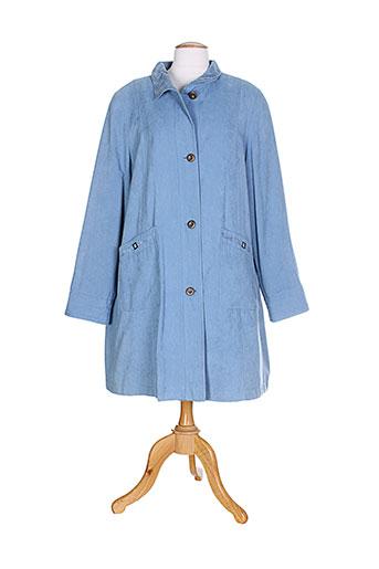 gelco manteaux femme de couleur bleu