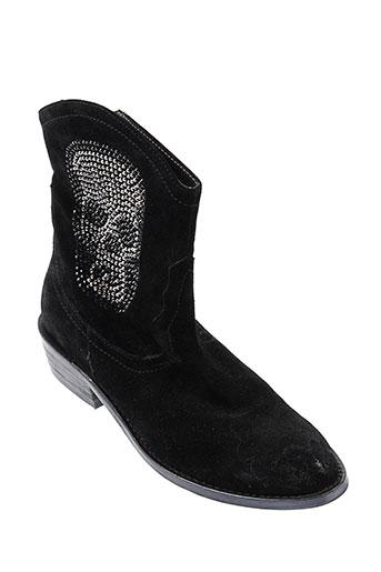 adige chaussures femme de couleur noir