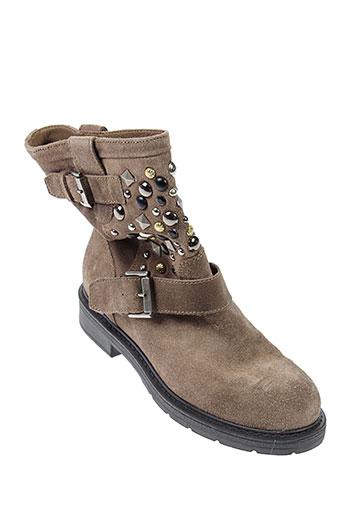 janet sport chaussures femme de couleur marron