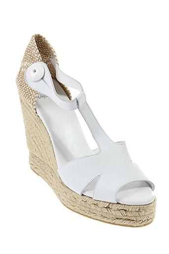 castaner sandales et nu et pieds femme de couleur blanc
