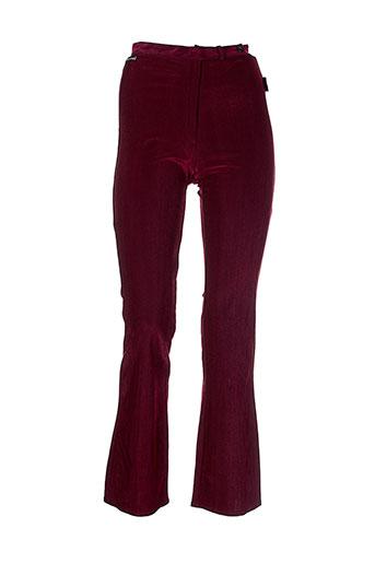 des filles a la vanille pantalons femme de couleur rouge