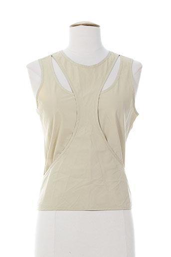 de la vega chemises femme de couleur beige