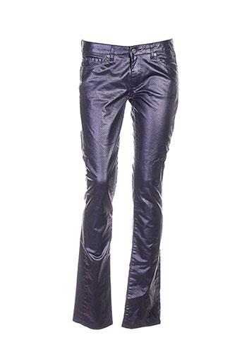 renhsen pantalons femme de couleur violet