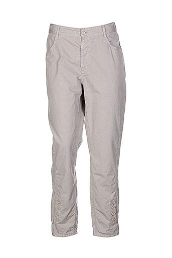 bensimon pantalons femme de couleur beige