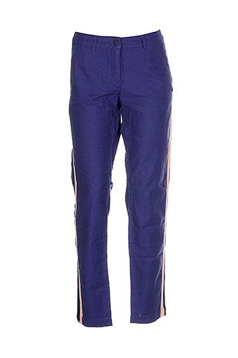 maison scotch pantalons femme de couleur bleu