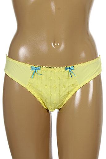 curvy et kate strings et tangas femme de couleur jaune