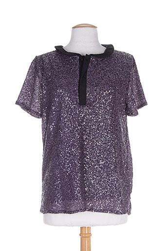 ankorel chemises femme de couleur violet