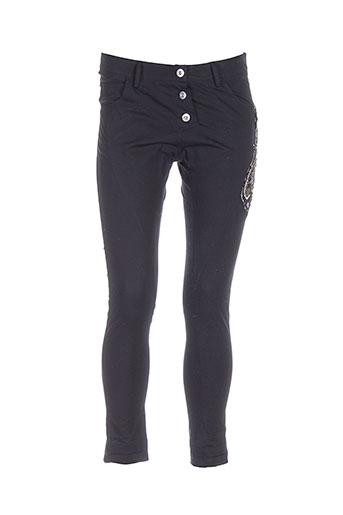ambre babzoe pantalons femme de couleur noir